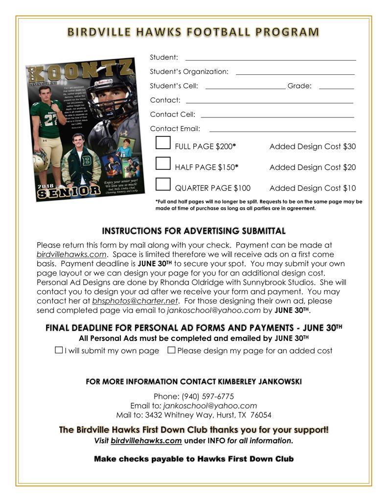 2019 Program flyer