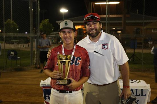 YBNNC 2016 MVP Derek Bermudez with Tyler Vieira, Asst. Tournament Director