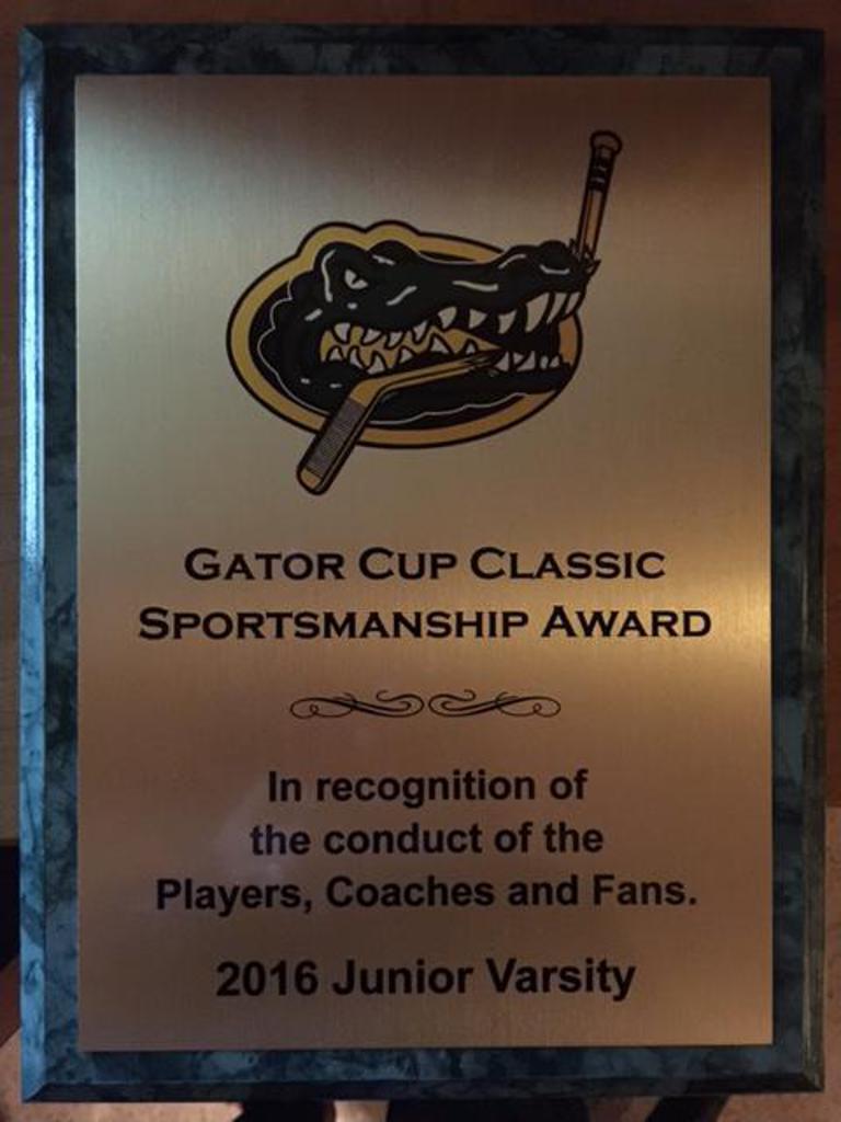 Sportsmanship Award - Gator Tournament