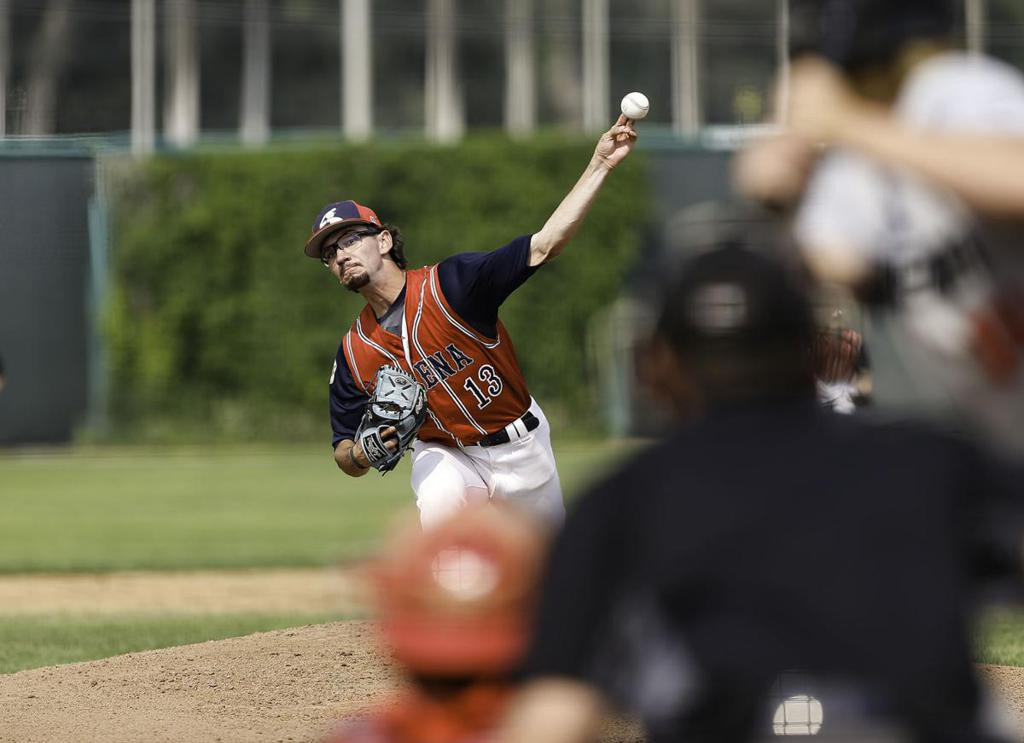 Helena's Cy Miller pitches every inning of Wednesday's 10-0 blowout of Bozeman at the American Legion State AA Baseball Tournament in Great Falls. Gary Marshall, BMGphotos.com