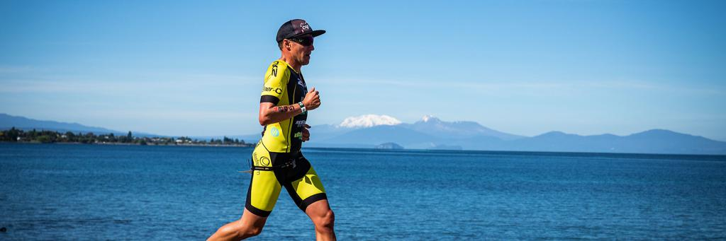 View from IRONMAN 70.3 World Championship in Taupo, New Zealand Run