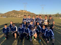SANTA CLARITA VALLEY INTERNATIONAL - 2020 WINTER MS BOYS EAST FOOTBALL CHAMPIONS