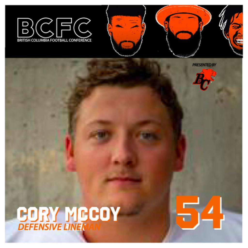 WEEK ONE: BCFC DEFENSIVE PLAYER OF THE WEEK - Cory McCoy Defensive Lineman Okanagan Sun