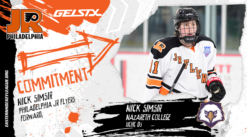 EHL Jr. Flyers forward Nick Simsir makes NCAA commitment to Nazareth College