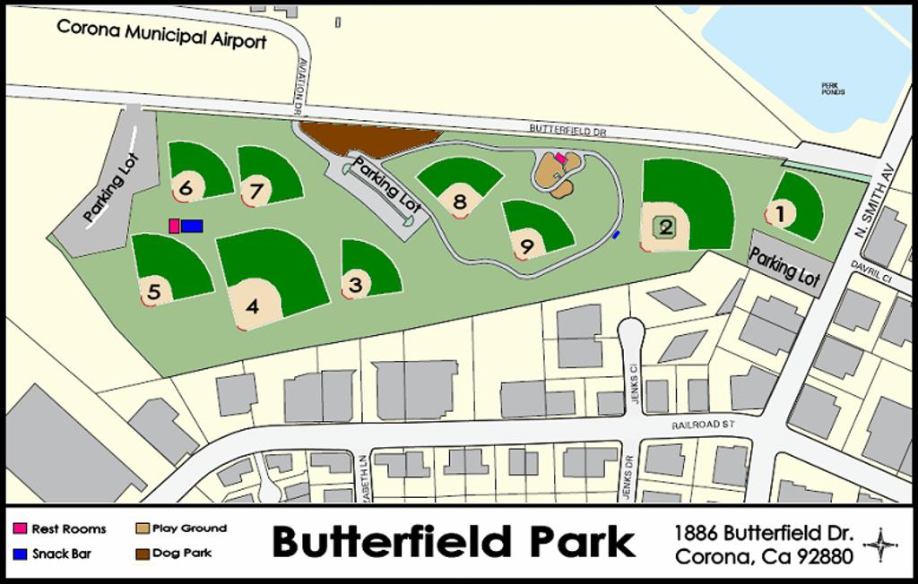 BUTTERFIELD PARK - FIELD LOCATIONS