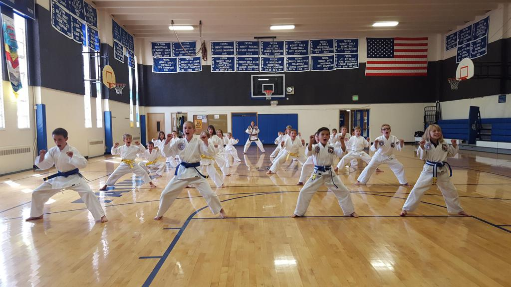 After school martial arts program at Our Lady of Fatima School in Lakewood, CO