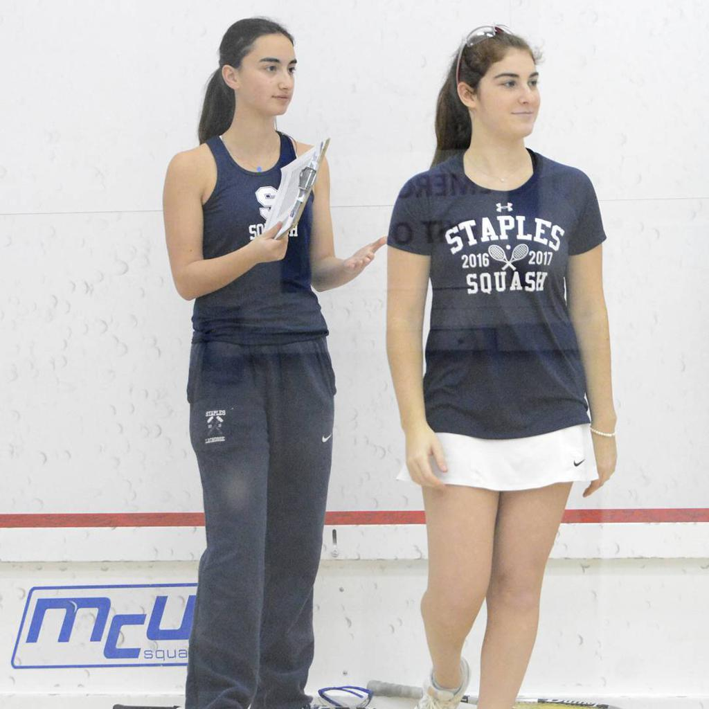 Alex with her co-captain Julia Pines