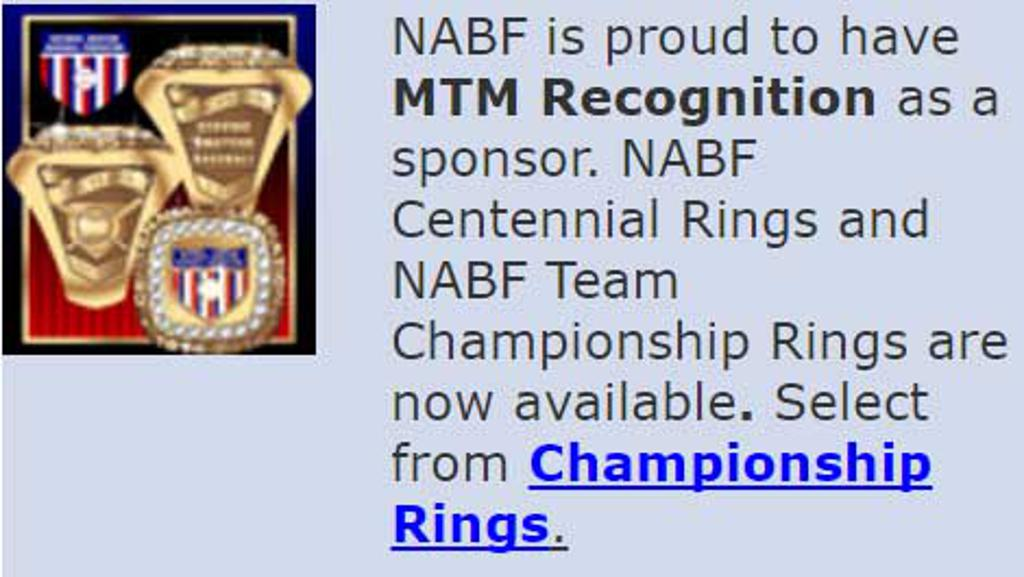 MTM Recognition NABF Rings