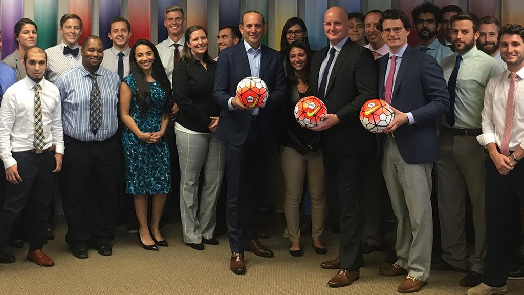 Major League Soccer Commissioner Don Garber visited the USL offices last  week while in Tampa to be a guest speaker at the University of South  Florida's ...