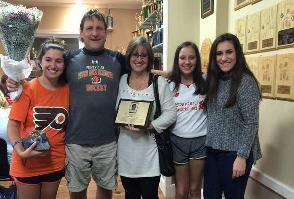 Geoff Rabinowitz was inducted into the MRC Coach's Hall of Fame on Thursday October