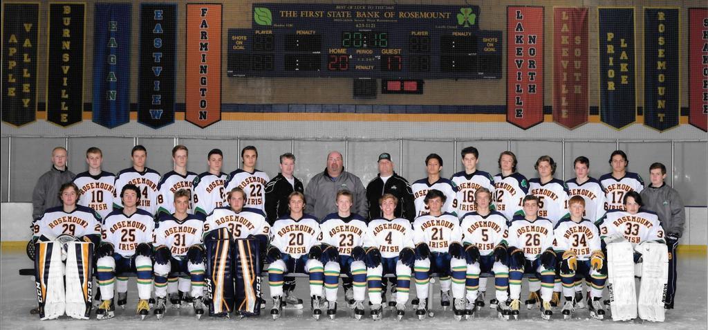 Rosemount Boys Varsity Hockey Team - 2016-17