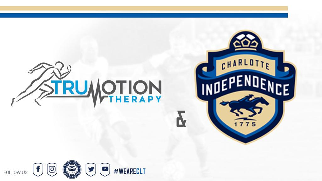 Charlotte Independence soccer club announces partnership with the Charlotte, North Carolina group Trumotion Therapy.