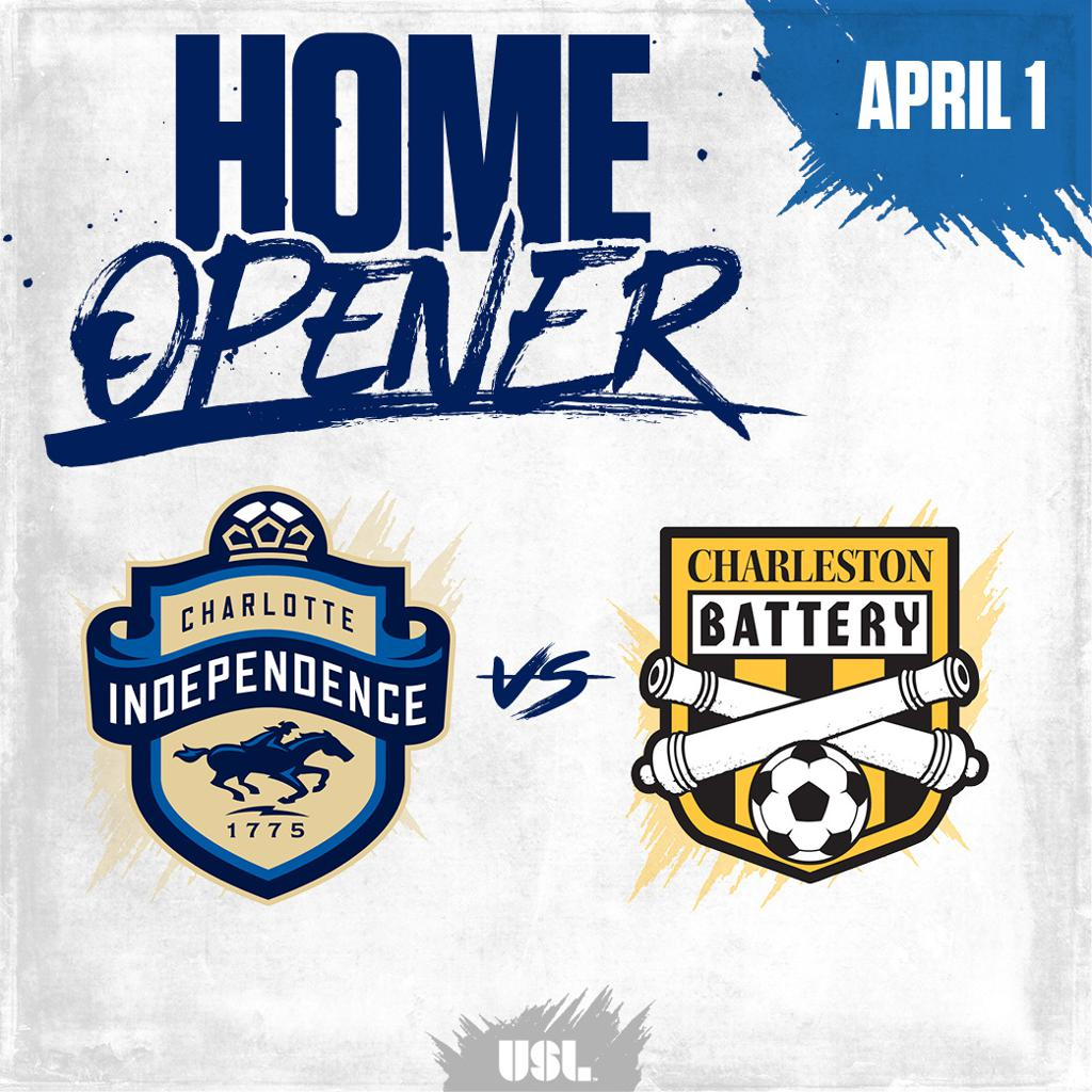 Charlotte Indpendence will open their 2017 home schedule on April 1st at Ramblewood Soccer Complex versus the Charleston Battery