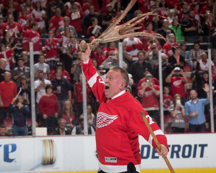 The Detroit Red Wings' octopus throw has become a tradition familiar to hockey fans far and wide. Photo courtesy of Yahoo! Sports
