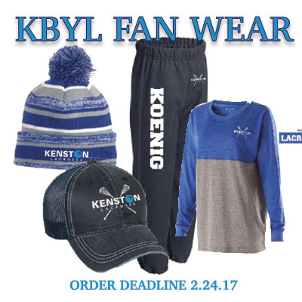 order you fan wear today - show your spirit at every lacrosse game!