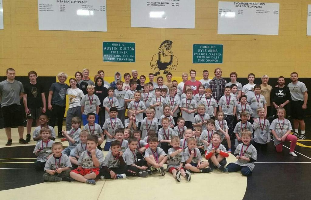 2019 Kids Clinic put on by our High School Wrestling Team