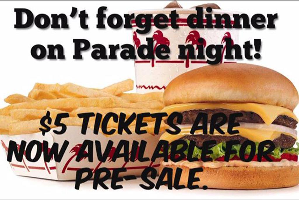 In-N-Out burger tickets