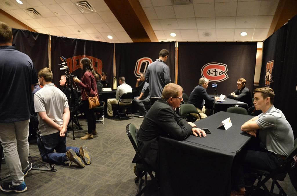 Media interviews Minnesota Duluth and Omaha head coaches and student-athletes.