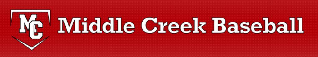 middle creek baseball banner graphic