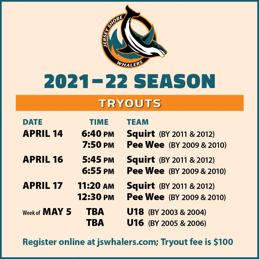 Jersey Shore Whalers 2021-22 Tryouts