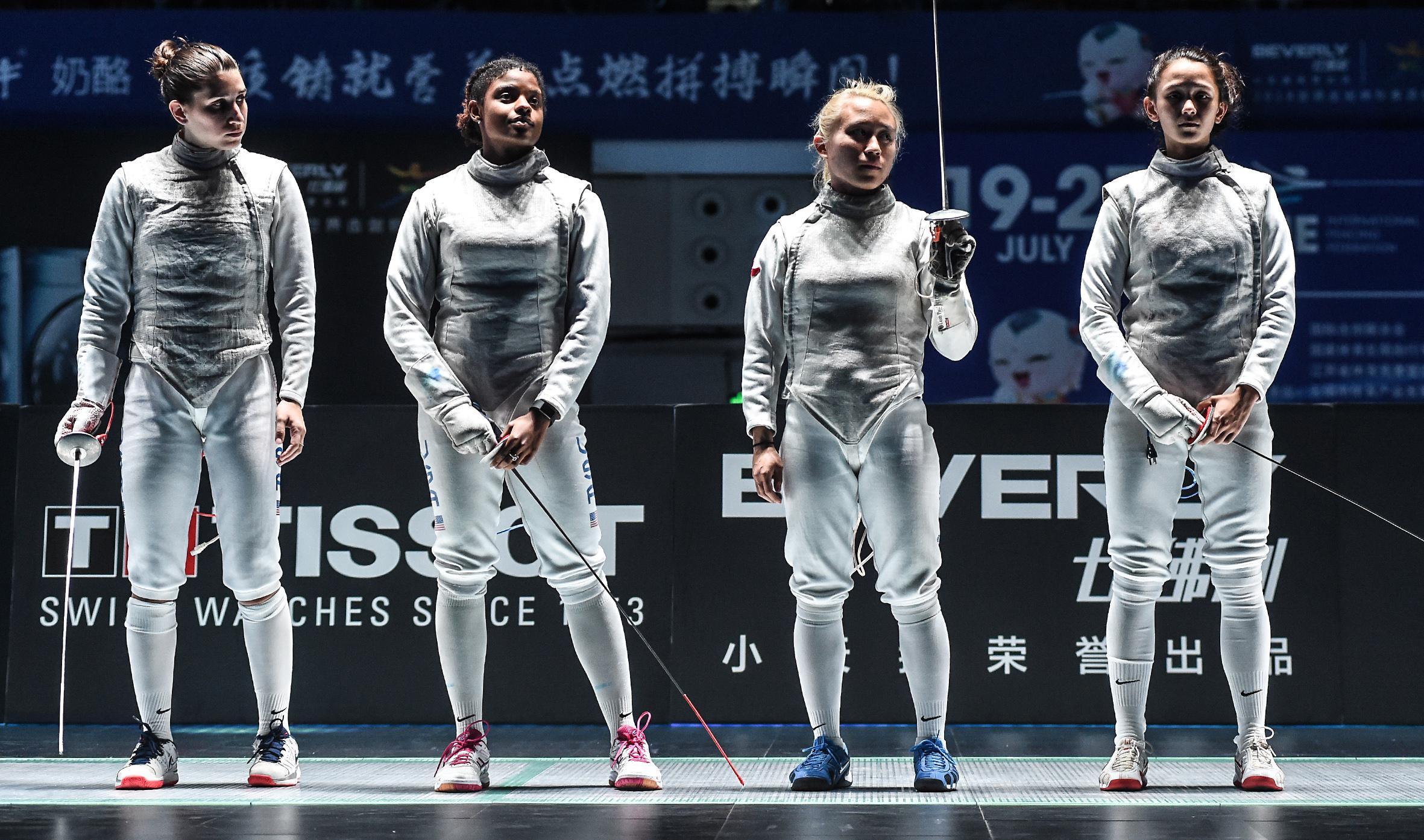 U S Women S Foil Team Returns To Senior World