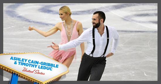 Skate America pairs competitors - Ashley Cain-Gribble and Timothy LeDuc - Team USA
