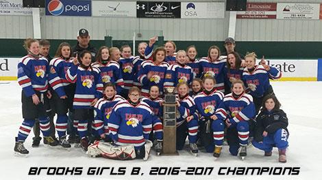 Brooks Girls B, 2016-2017 Champions