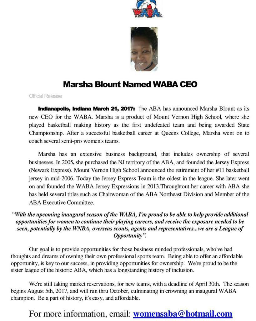 WABA Announces New CEO
