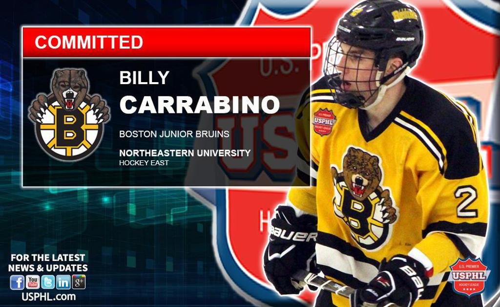 Junior Bruins Billy Carrabino Commits to Northeastern University 677f34bdb