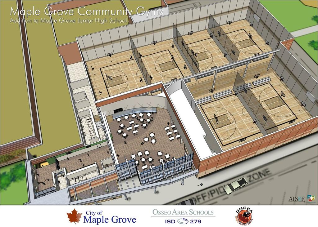 Maple grove community gymnasium mgcg for Basketball gym floor plan