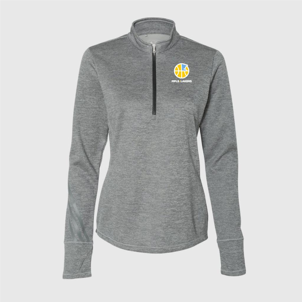 Women's Grey 1/4 Zip with embroidered logo on left chest