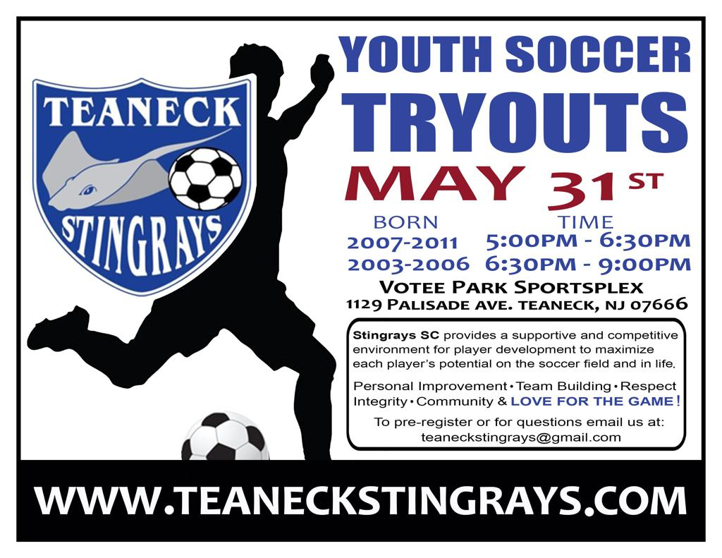 Second Round Tryouts Wednesday May 31st