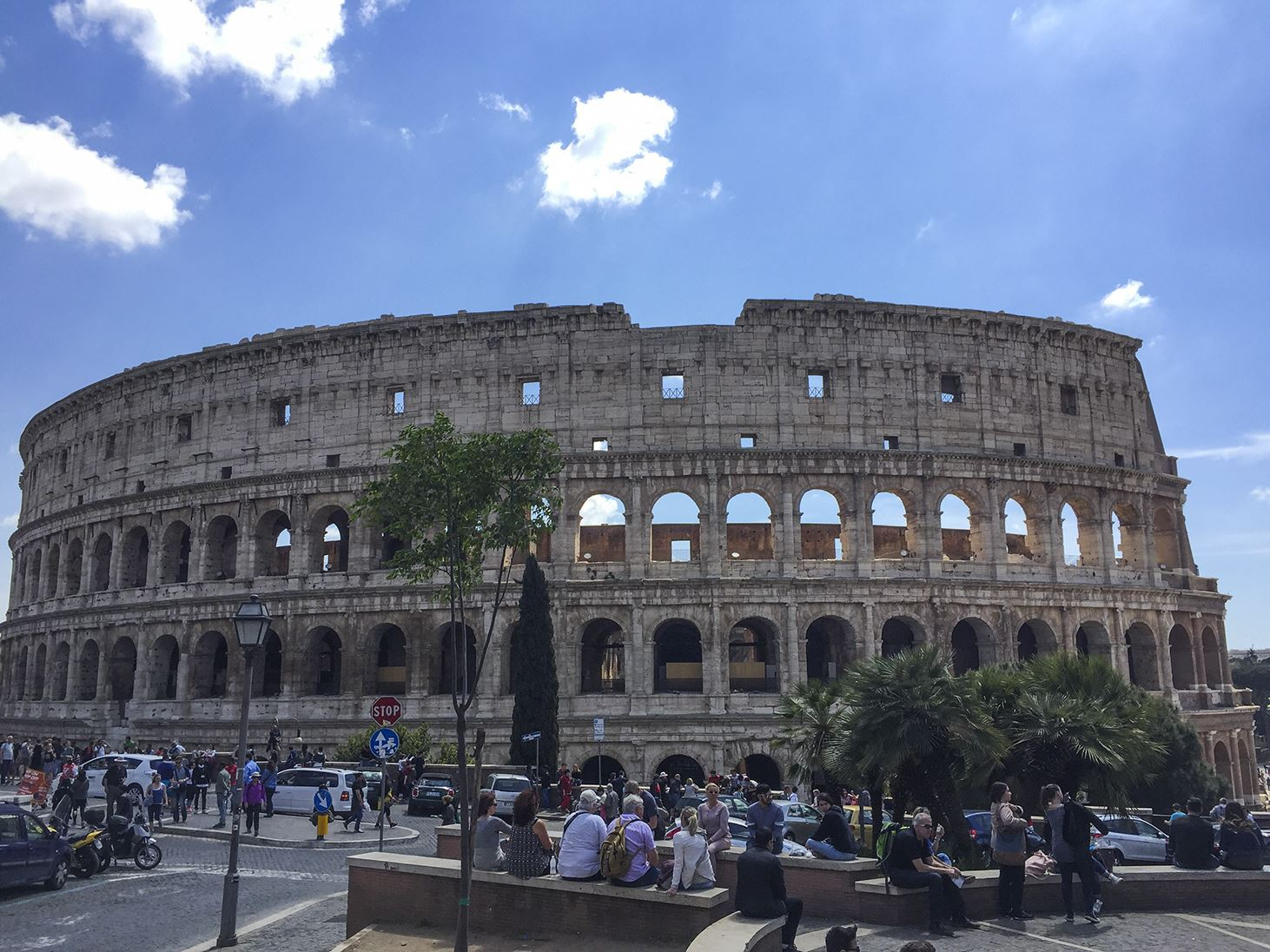 michigan players left in awe of colosseum