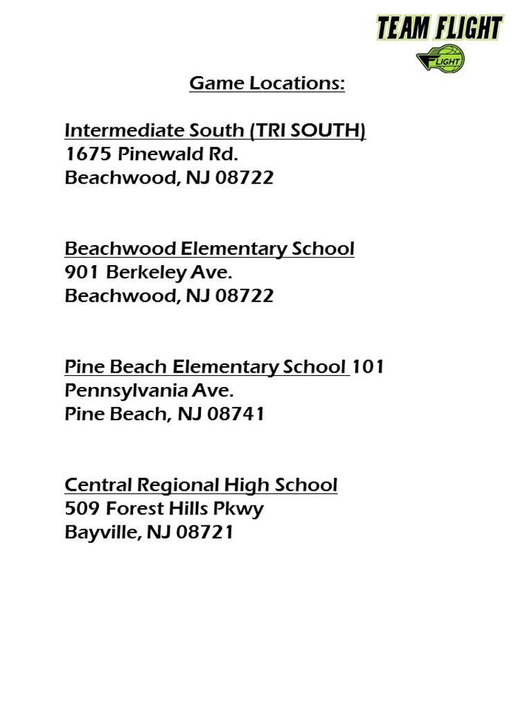 New jersey ocean county beachwood - Locations