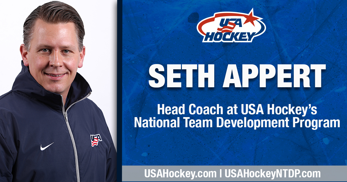 USA Hockey National Team Development Program Seth Appert