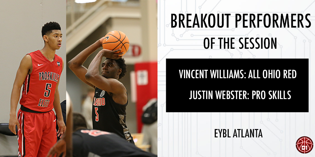 NIKE EYBL Atlanta Breakout Performer(s): Vincent Williams & Justin Webster