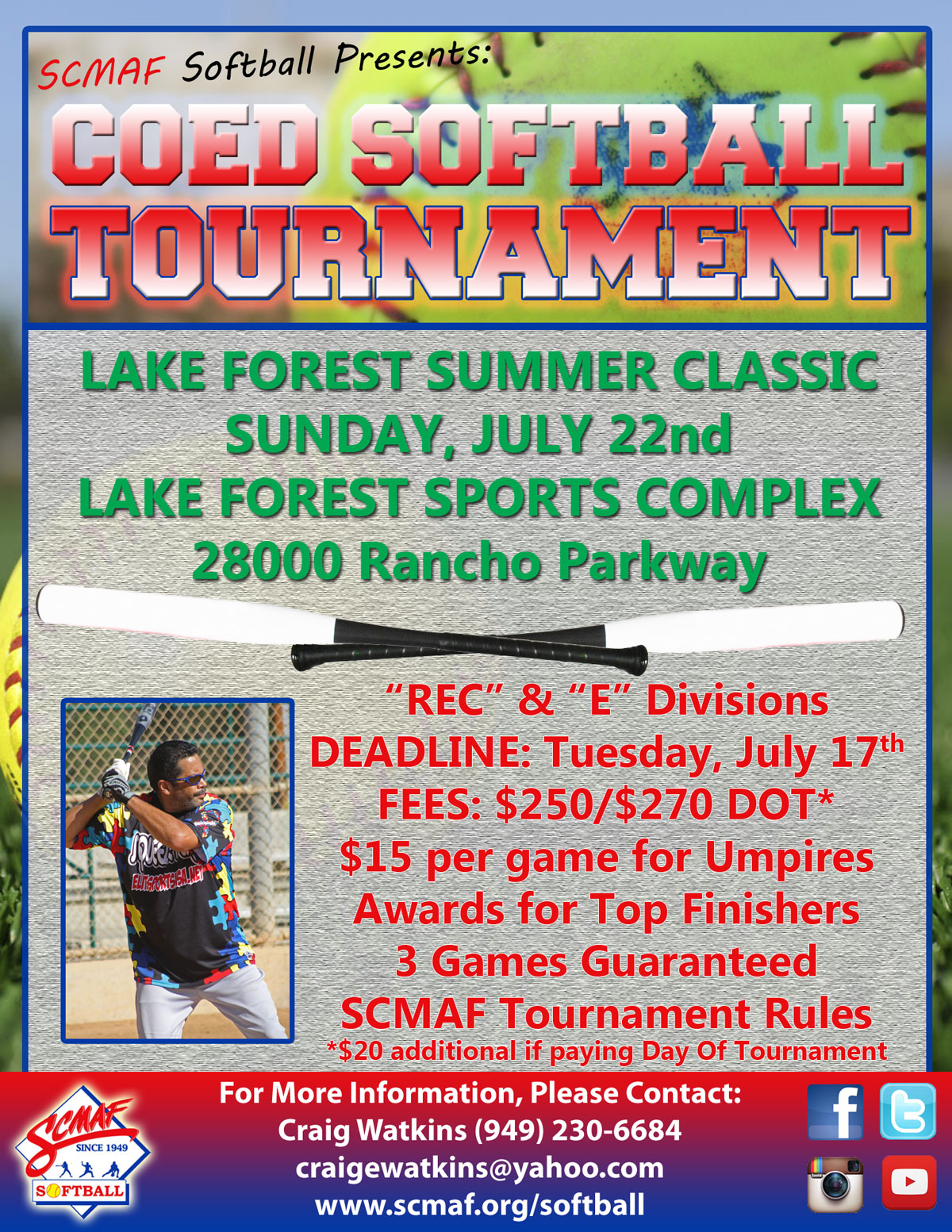 COED Softball: Lake Forest Summer Classic