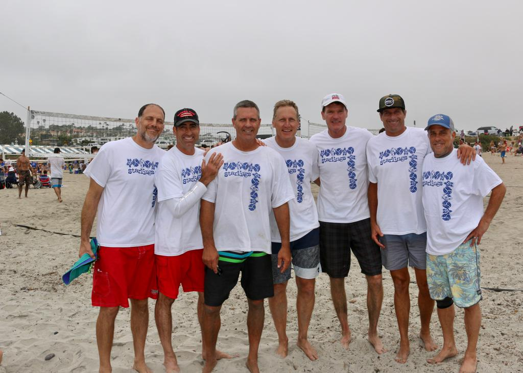 Players at Mike Whitmarsh Beach Volleyball Tournament