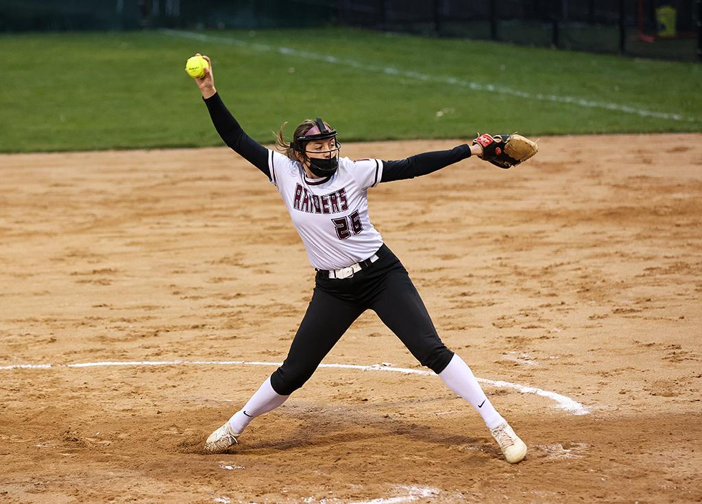 Senior pitcher Brynn Hostettler allowed just two hits in eight innings and tallied 20 strikeouts for Northfield. Photo by Cheryl A. Myers, SportsEngine