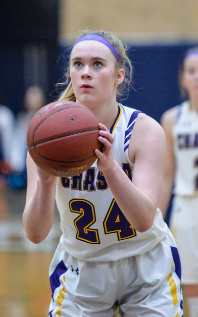 Chaska's Mallory Heyer had a game-high 20 points Tuesday night against conference foe Robbinsdale Cooper. Chaska defeated Robbinsdale Cooper 65-48. Photo by Earl J. Ebensteiner, SportsEngine