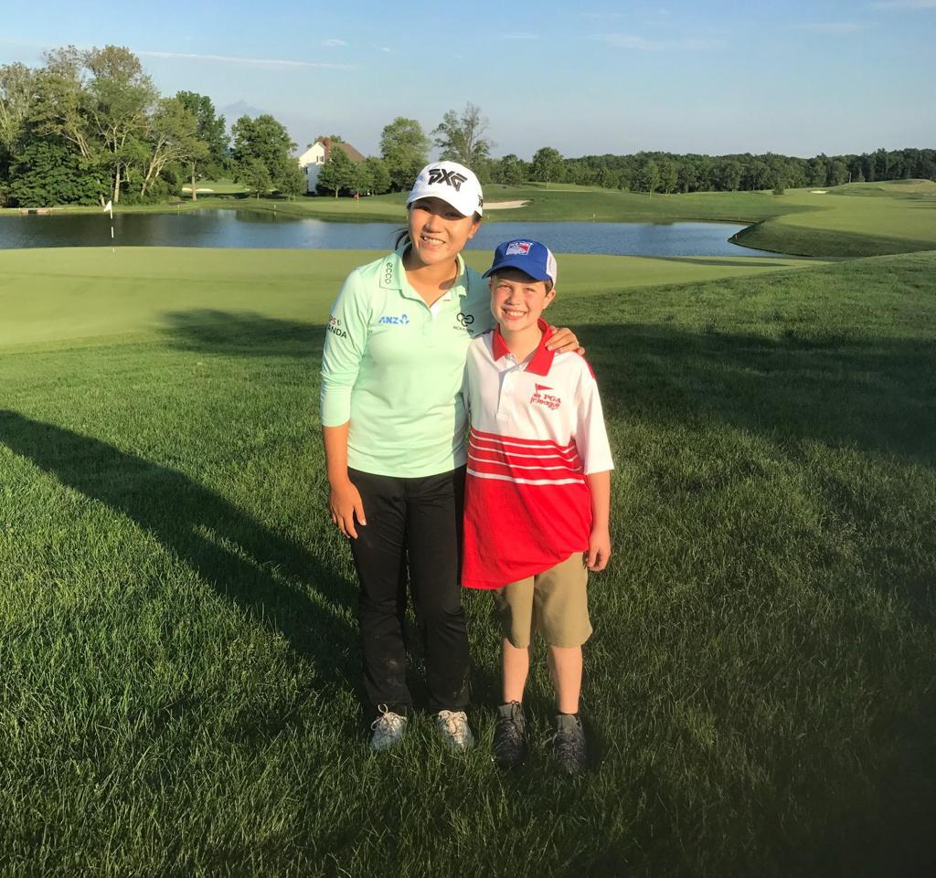 Matt Dicks, 10, says meeting Lydia Ko was his favorite memory this season.