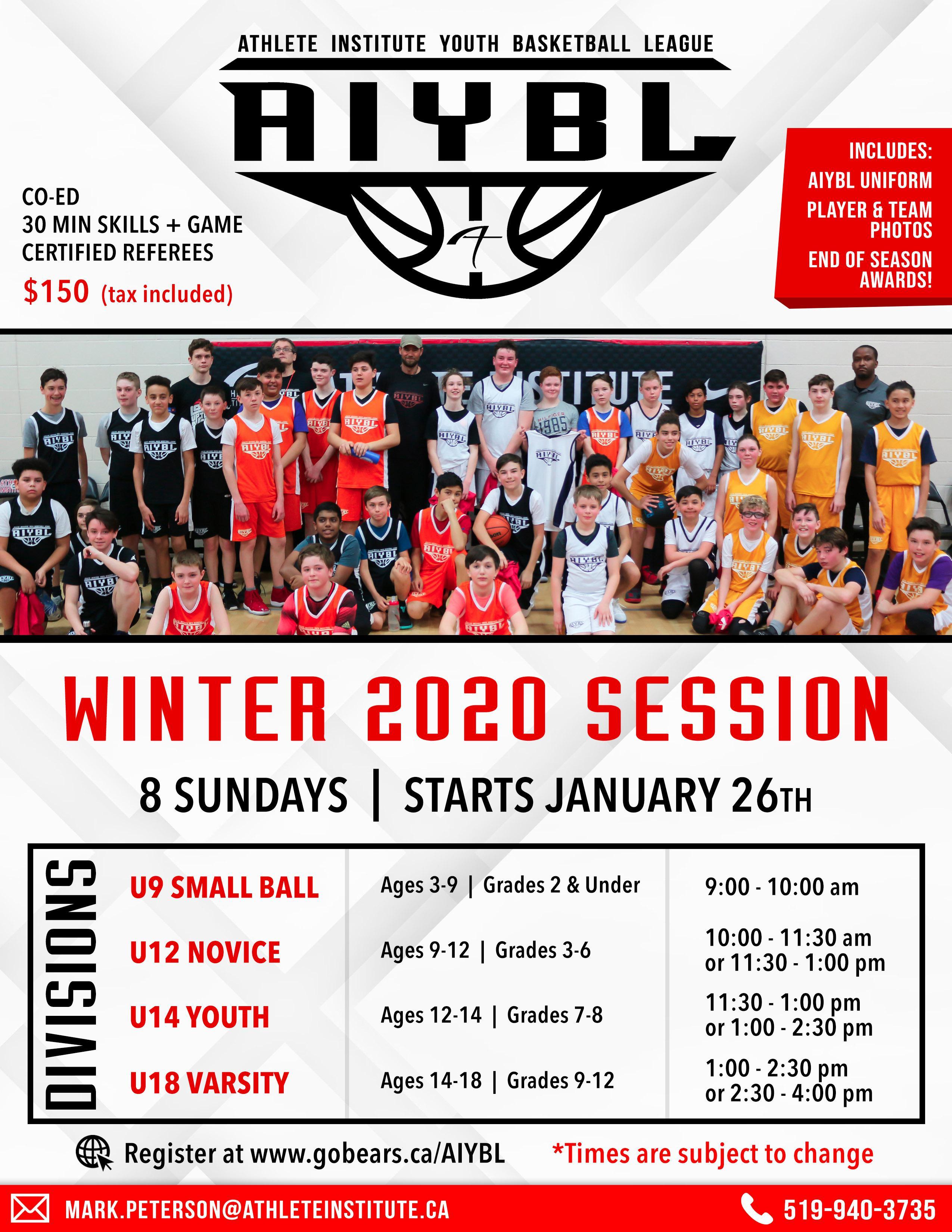 Athlete Institute Youth Basketball League AIYBL House League Orangeville