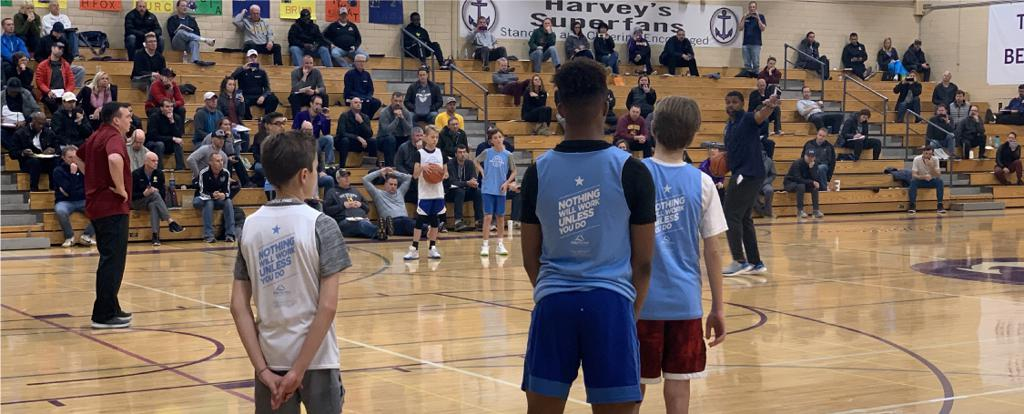 Attendees of the MYAS Trusted Coaches Clinic at Southwest High School sponsored in part by the Minneapolis Lakers Youth Travelling Basketball Program LLC