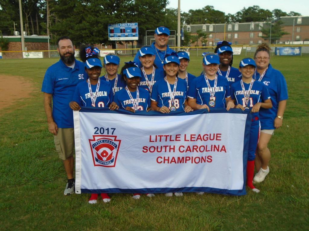 2017 South Carolina Little League Softball Champions - - Trenholm Majors Softball All Stars