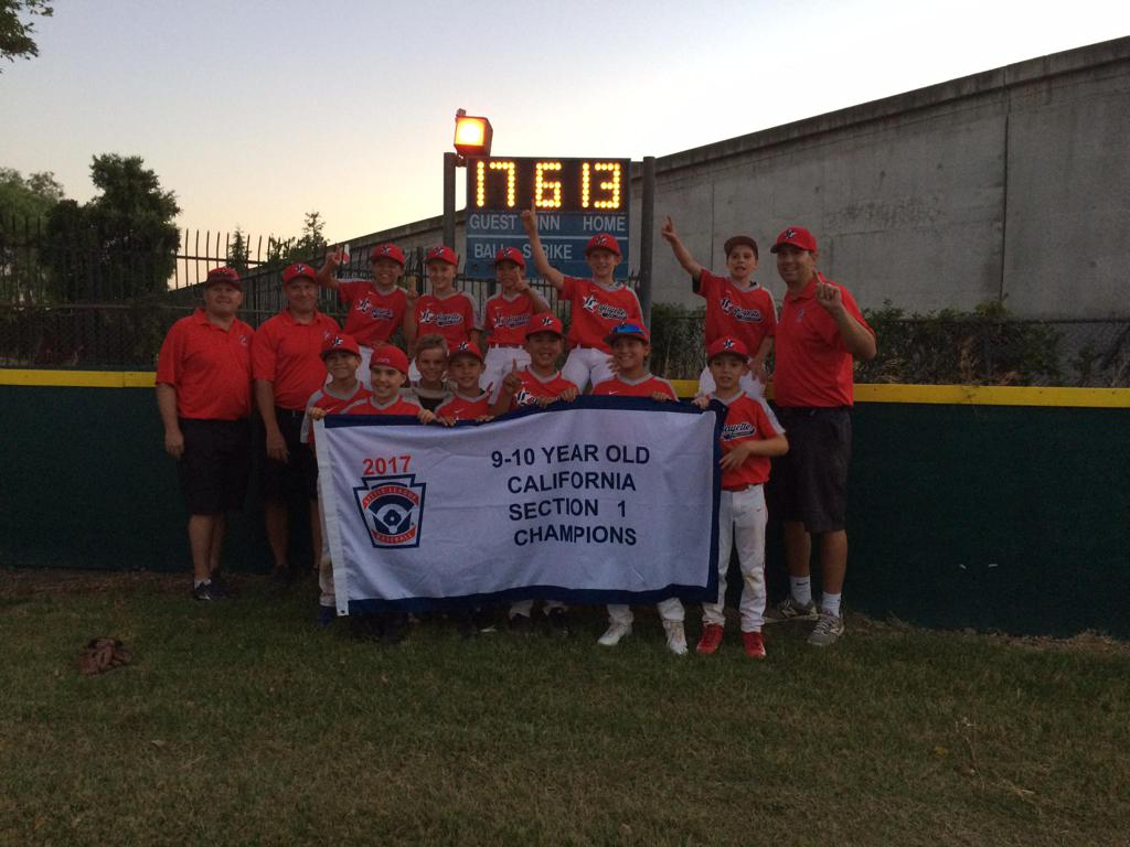 10 Year Old All Star Team Wins Sectionals