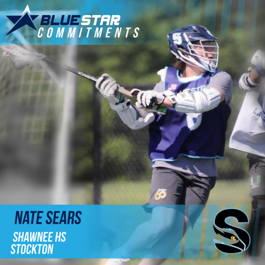 Nate Sears Shawnee and Blue Star Lacrosse commit Stockton