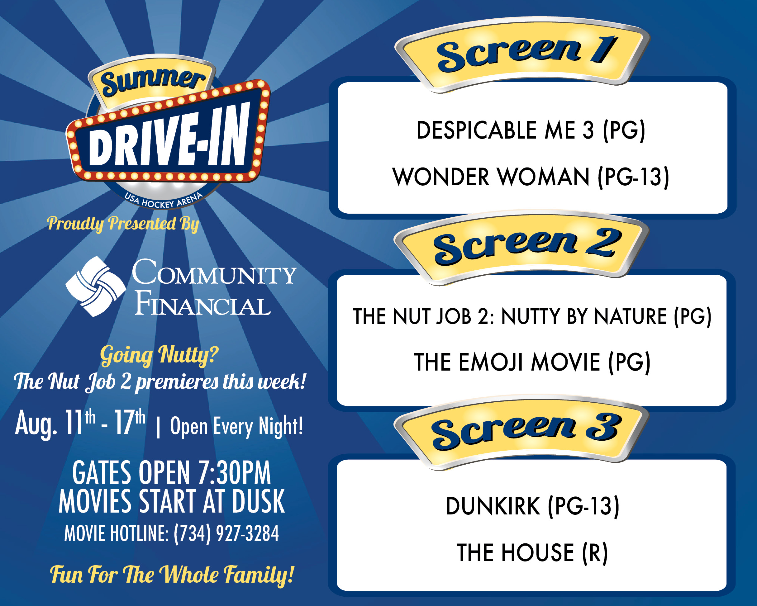 USA Hockey Arena Summer Drive-in Movies