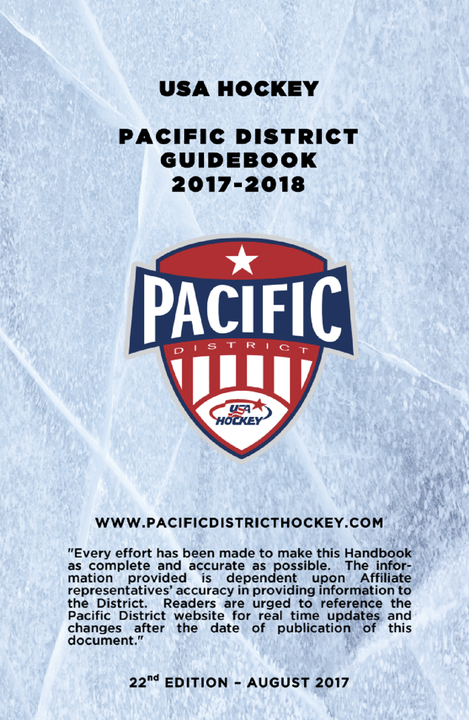 Pacific District 2017/18 GUIDEBOOK