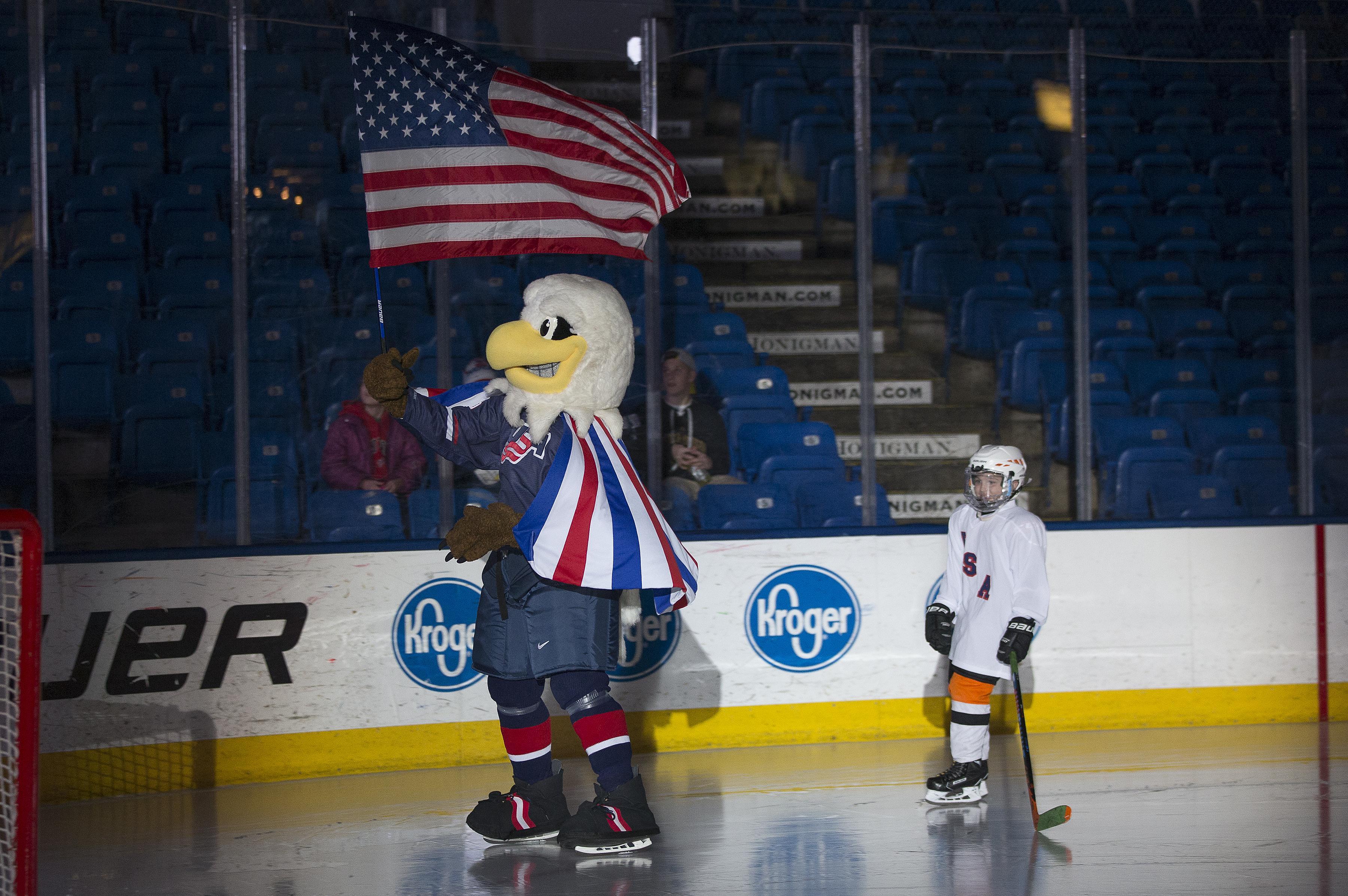 USA Hockey National Team Development Program Rushmore Mascot