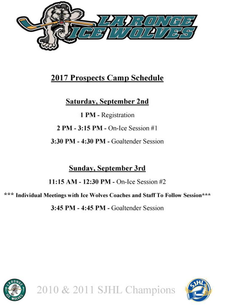 Prospects Schedule